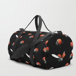 Ladybugs at Night Duffle Bag