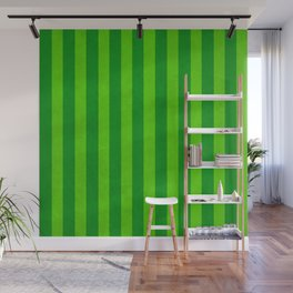 Stripes Collection: Fields Of Green Wall Mural