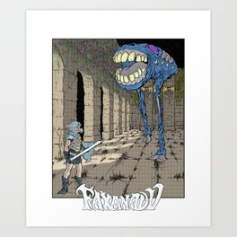 NES Tribute #1: Faxanadu Art Print