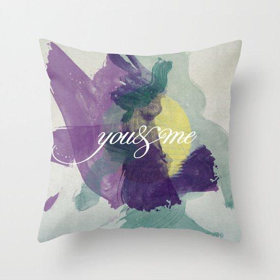 you&me Throw Pillow