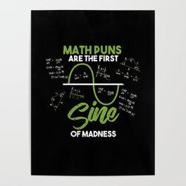 6feebdf2 Funny Math Puns Graph Madness Teacher School Gift Poster