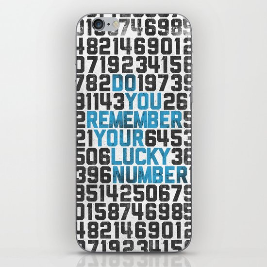 Do You Remember Your Lucky Number? iPhone & iPod Skin