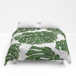 Monstera Pug Comforters