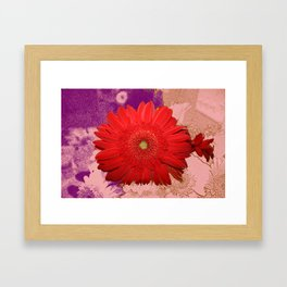 Bloom in relief Framed Art Print
