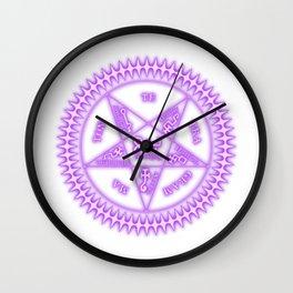 Sebastian Michaelis Sigil Light (white bg) Wall Clock