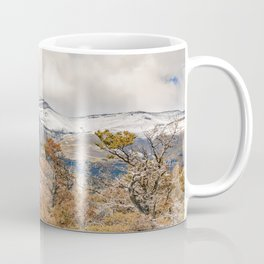 Forest and Snowy Mountains, Patagonia, Argentina Coffee Mug