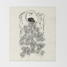 Jungle Peacock Throw Blanket