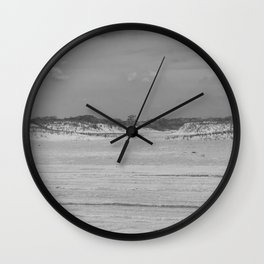 Dunes of Assateague Island (black and white) Wall Clock