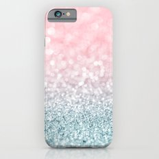Aqua and Pink Glitter Gradient iPhone 6s Slim Case