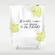 Hope for Spring in the Winter Shower Curtain