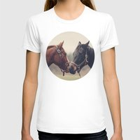 horses T-shirts featuring Horses  by Laura Ruth