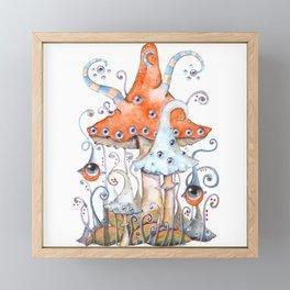 Magical world of mushrooms Framed Mini Art Print
