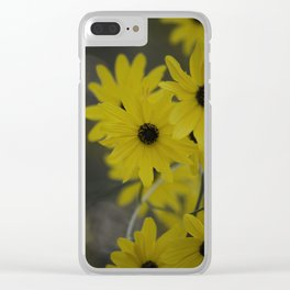 Beauty In Yellow Clear iPhone Case
