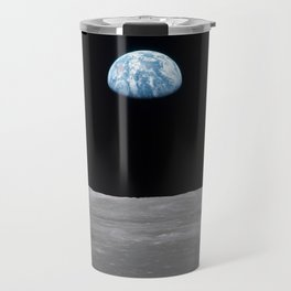 Earth rise over the Moon Travel Mug