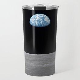 Earth rise over the Moon Travel Mug