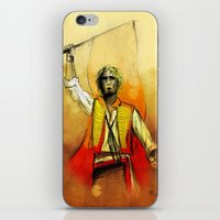 enjolras iPhone & iPod Skins featuring Enjolras, III by Flávia Marques