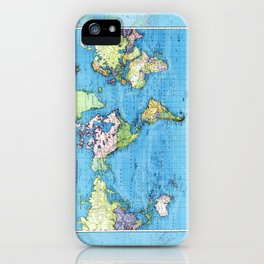 Mercator Map of Ocean Currents iPhone Case