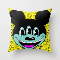 ANOTHER MICKEYES.  (Pink Tongue). Throw Pillow