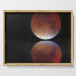 Super blood moon Serving Tray