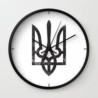 ukraine Wall Clocks featuring Ukraine by Sitchko Igor
