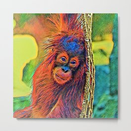 AnimalColor_OrangUtan_001_by_JAMColors Metal Print