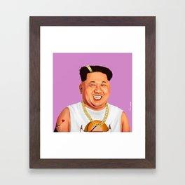 HIPSTORY - Kim Jong Un Framed Art Print