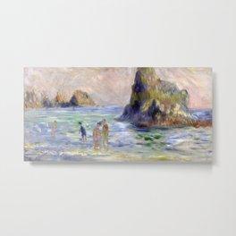 Moulin Huet Bay, Guernsey by Pierre-Auguste Renoir Metal Print
