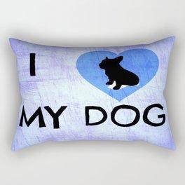 I Luv My Dog Rectangular Pillow