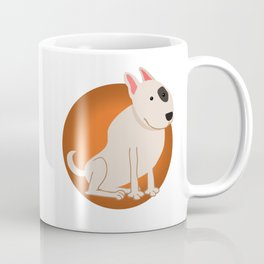 Bull Terrier Illustration Coffee Mug