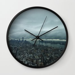 Rainy Day in NYC  Wall Clock