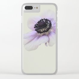 Pale Purple Anemone Clear iPhone Case