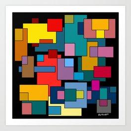 Color Blocks #4A Art Print
