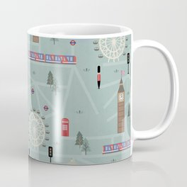 London Map Print Illustration Coffee Mug