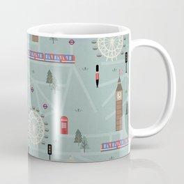London Map Print Illustration Coffee Mug