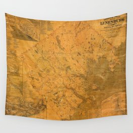 Map of Lunenburg 1864 Wall Tapestry