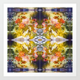 Marigold Photographic Pattern #1 Art Print