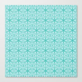 Victorian Floral Pattern turquoise Canvas Print