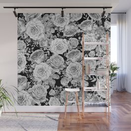 ROSES ON DARK BACKGROUND Wall Mural