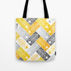 Bright Geometric Print Tote Bag