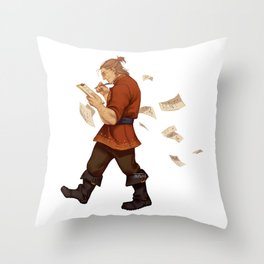 DA crew Varric Throw Pillow