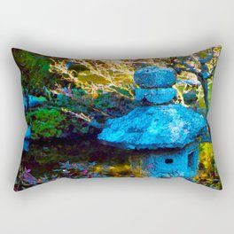 Japanese Painted Garden Rectangular Pillow