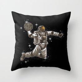 Basketball Astronaut | Sport Galaxy Team Universe Throw Pillow