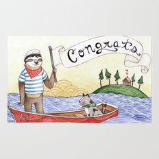 Sloth Congrats Rug
