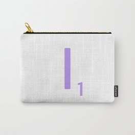 Purple Letter I Scrabble Monogram Carry-All Pouch