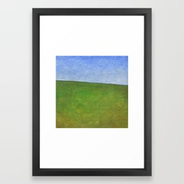 Bright green sea Framed Art Print