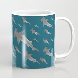Hammerhead shark school Coffee Mug