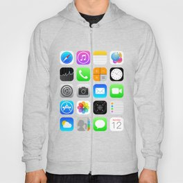 Phone Apps (Flat design) Hoody