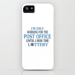 Postal worker iPhone Case