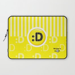 Yellow Writer's Mood Laptop Sleeve