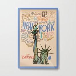 Fly Tardis Metal Print